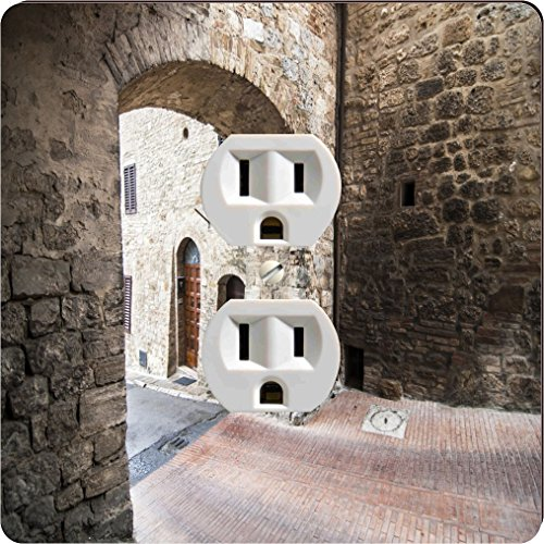 Rikki Knight 2022 Outlet Narrow Tuscan Street Design Outlet Plate - Tuscan Archway