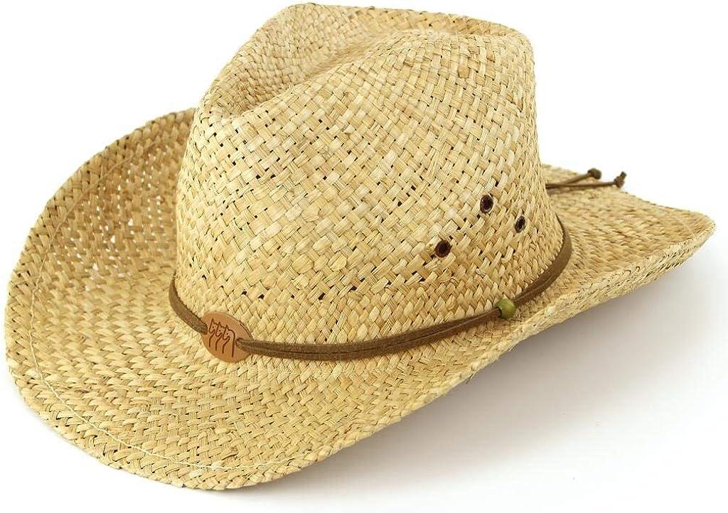 Cappello in paglia naturale mod cowboy taglie 56 58 60 made in Italy