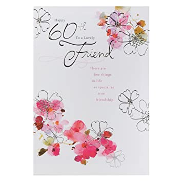 Hallmark 60th Birthday Card For Friend Wishing You Happiness