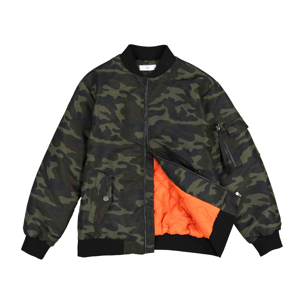 La Redoute Collections Big Boys Camouflage Bomber Jacket, 10-16 Years Green Size 14 Years - 63 in. by La Redoute (Image #3)