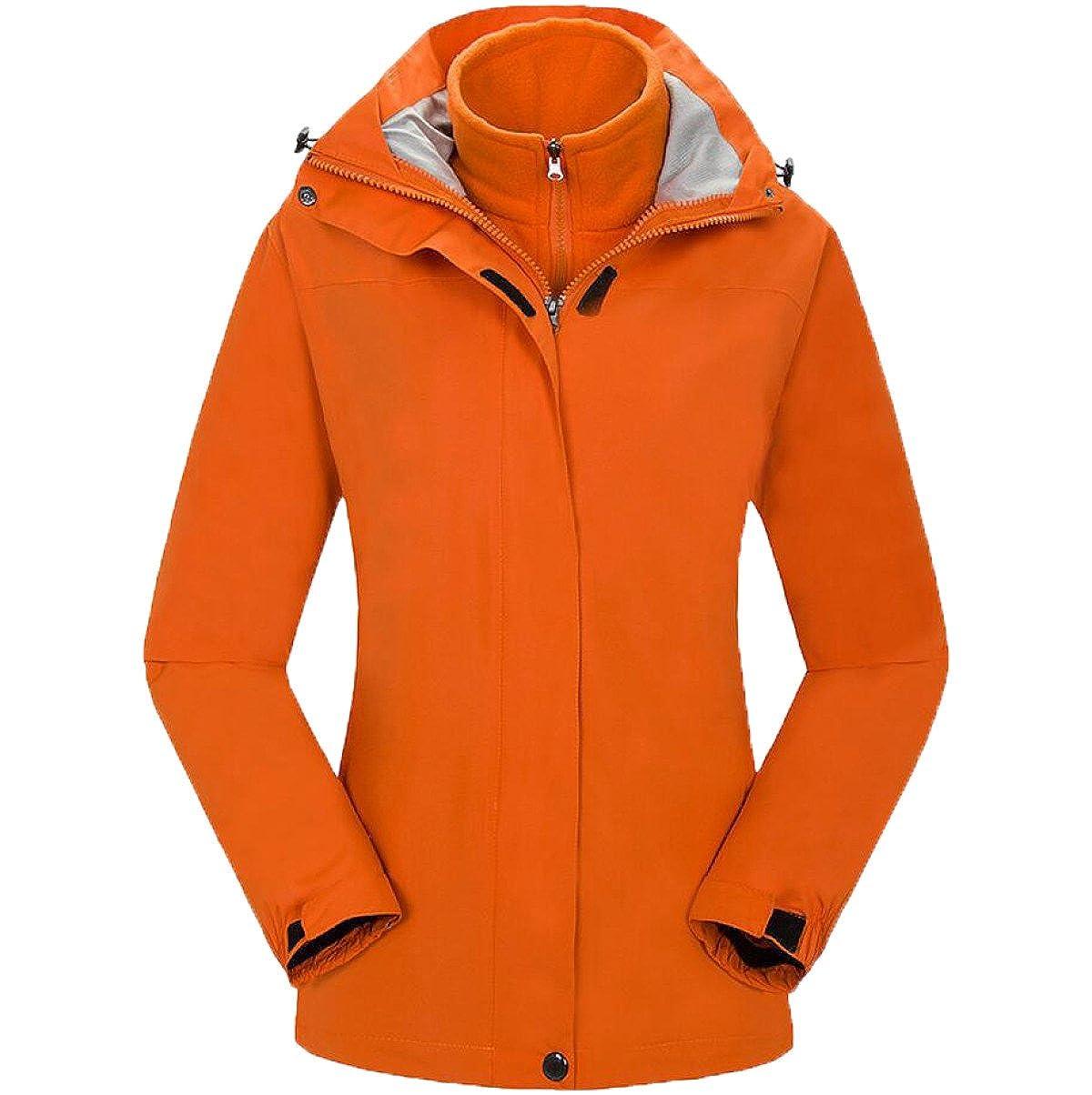 Orange XL Vestes Imperméable à l'hiver Imperméable à l'eau Veste Imperméable à l'eau Doudoune Mousse Et Séchage Rapide