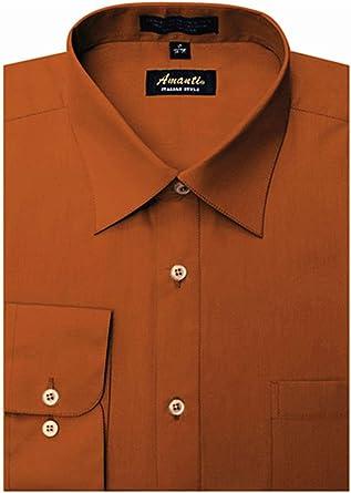 Amanti - Camisa de Vestir clásica para Hombre con puño Convertible