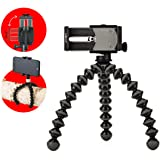 Joby Griptight Gorilla pod Stand Pro Tripod for Any Smartphone with Or Without A Case, Black, (JB01390-BWW)
