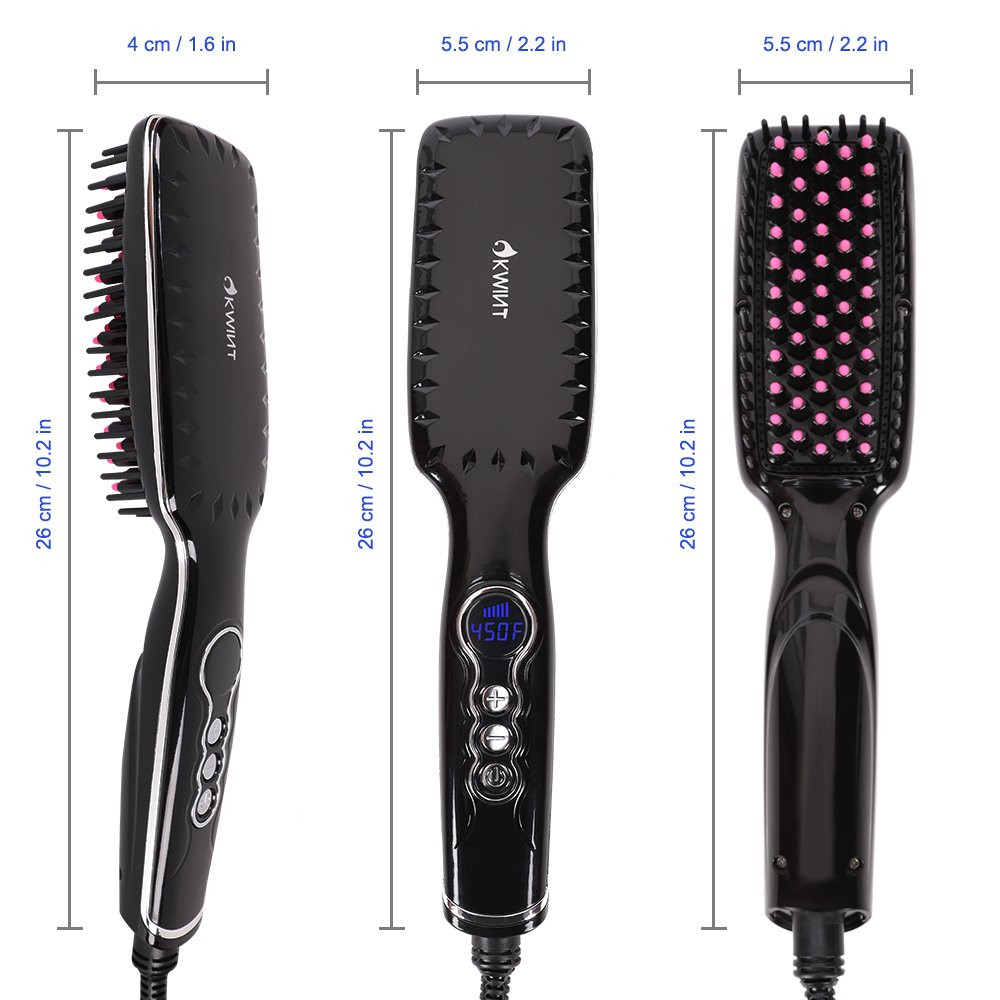 Hair Straightener Brush, OKWINT Ionic Straightening Brush with Anti-Scald Feature,Adjustable Temperatures, Auto-off Function by OKWINT (Image #6)