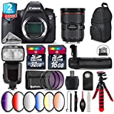 Canon EOS 6D DSLR Camera + Canon EF 24-70mm 2.8L II USM Lens + Pro Flash + Battery Grip + 6PC Graduated Color Filer Set + 2yr Extended Warranty + 32GB Class 10 Memory Card - International Version