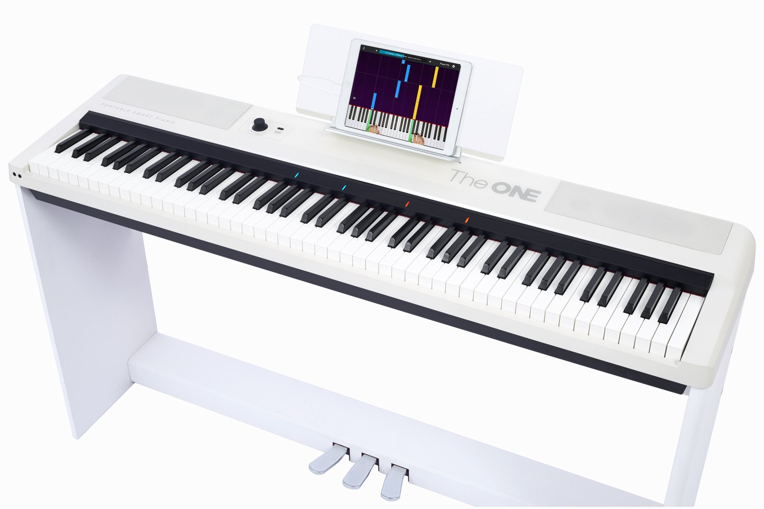 The ONE Smart Keyboard Pro, 88-Key Digital Piano Keyboard, Portable Digital Piano, Weighted Action Keys, White by The ONE Music Group (Image #5)