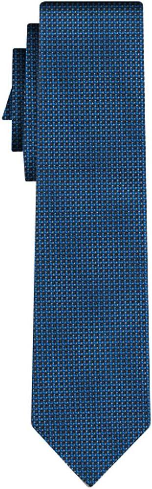 BOSS cravate soie dots pattern navy