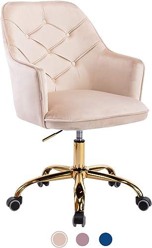 Goujxcy Velvet Desk Chair