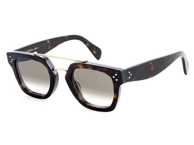 Celine 86 47Z3, Gafas de sol Unisex, Dark Havana/Brown 47 ...