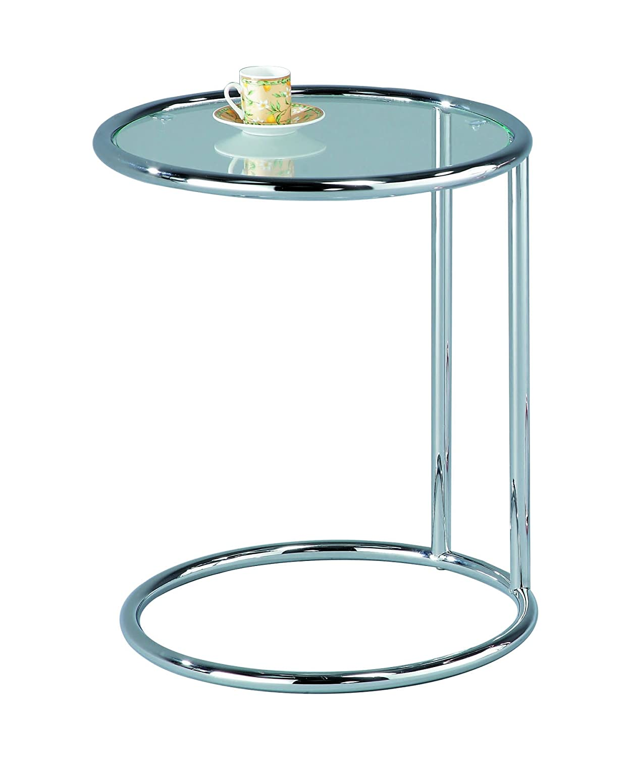 ASPECT Mia Round Side Table/Coffee Table/End Table/Sofa Table, Metal, Copper/Mirror ST19CP/MR