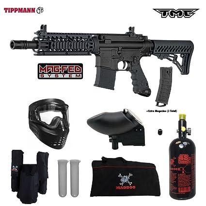 Amazon Com Tippmann Tmc Magfed Hpa Paintball Gun Package B Black
