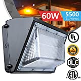 Best Wall Light With Glass Lenses - 60W LED Wall Pack Fixture, 250-350W HPS/HID Replacement Review