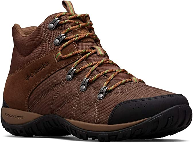 Columbia Men's Peakfreak Venture Boot , dark brown, clean green 7.5 Regular US