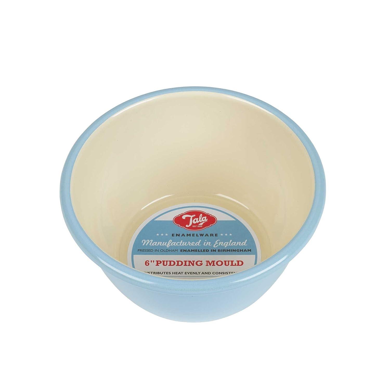 Tala - Molde para flan, cerámica, 15,2 cm, color azul y crema: Amazon.es: Hogar