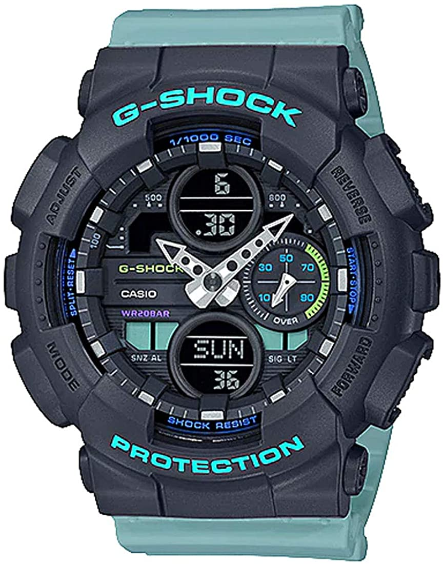 Ladies' Casio G-Shock S-Series Blue Resin Band Watch GMAS140-2A 61eIYUEUCDLUL1100_