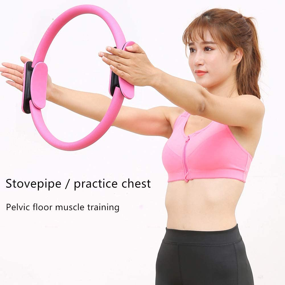 ZDY Portable Fitness Pilates Ring Materials Indestructible Fitness Magic Ring Yoga Pilates Ring Lightweight Pilates Ring for Conditioning Thighs Abdomen and Chest