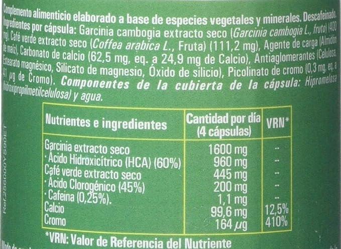 Ynsadiet Garcinia Cambogia Con Extracto de Café Verde Sin Cafeina, Complemento Para la Dieta, Complemento alimenticio Natural, Control de Peso, ...