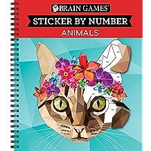 Brain Games® Sticker by Number: Animals