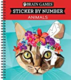 img - for Brain Games  Sticker by Number: Animals book / textbook / text book