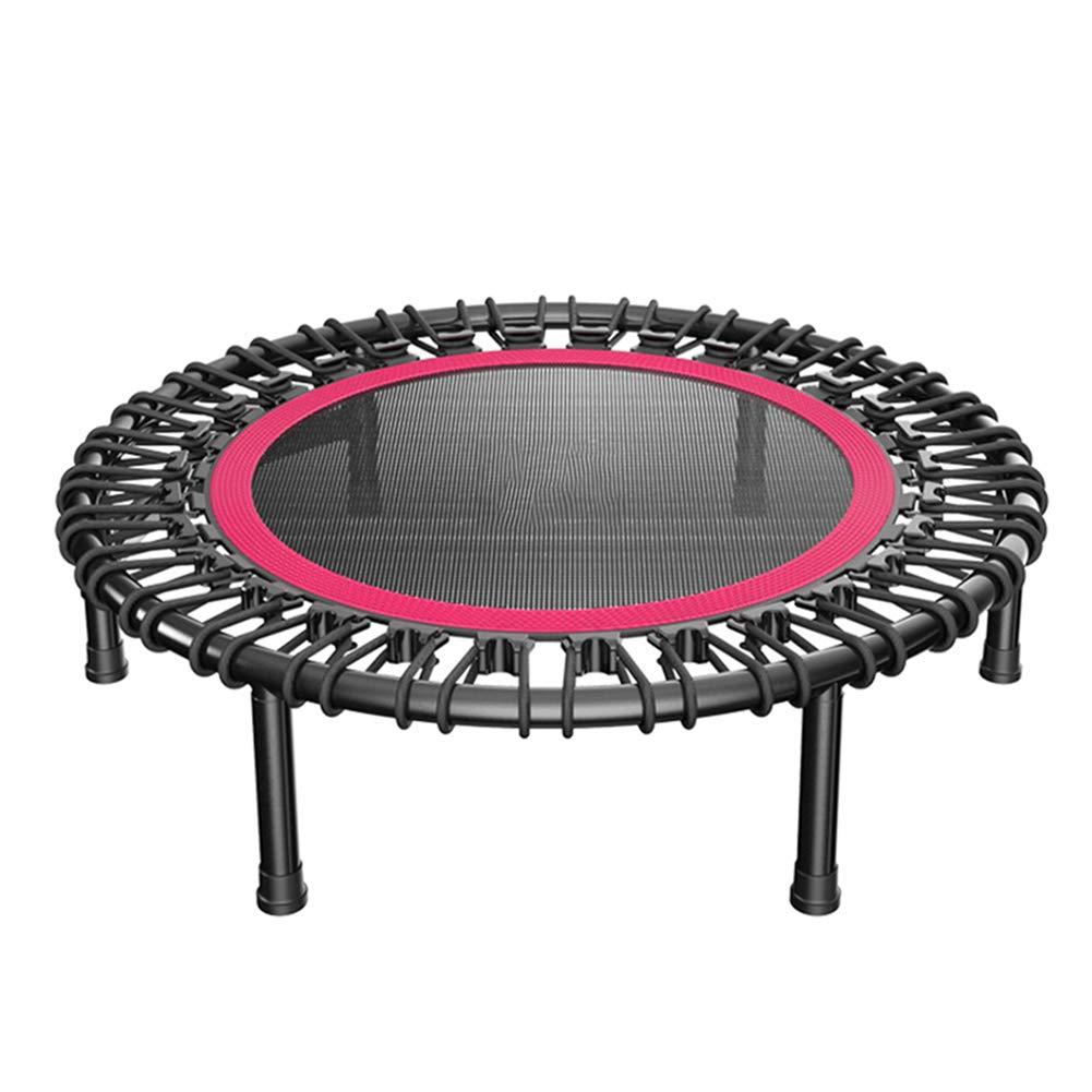 40 Zoll Trampolin Mini Übung Fitnessgeräte, Indoor Sicherheit Pad für Gartentraining Cardio Training Schwarz + rot