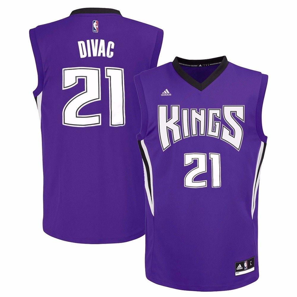 e61f2c61167d ... Amazon.com Vlade Divac Sacramento Kings NBA Adidas Mens Purple Replica  Jersey Sports Outdoors ...