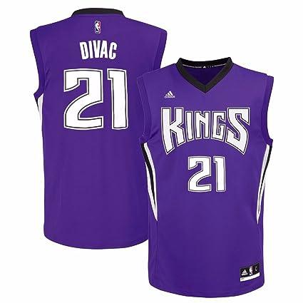 8eefe8e43 Vlade Divac Sacramento Kings NBA Adidas Men s Purple Replica Jersey ...