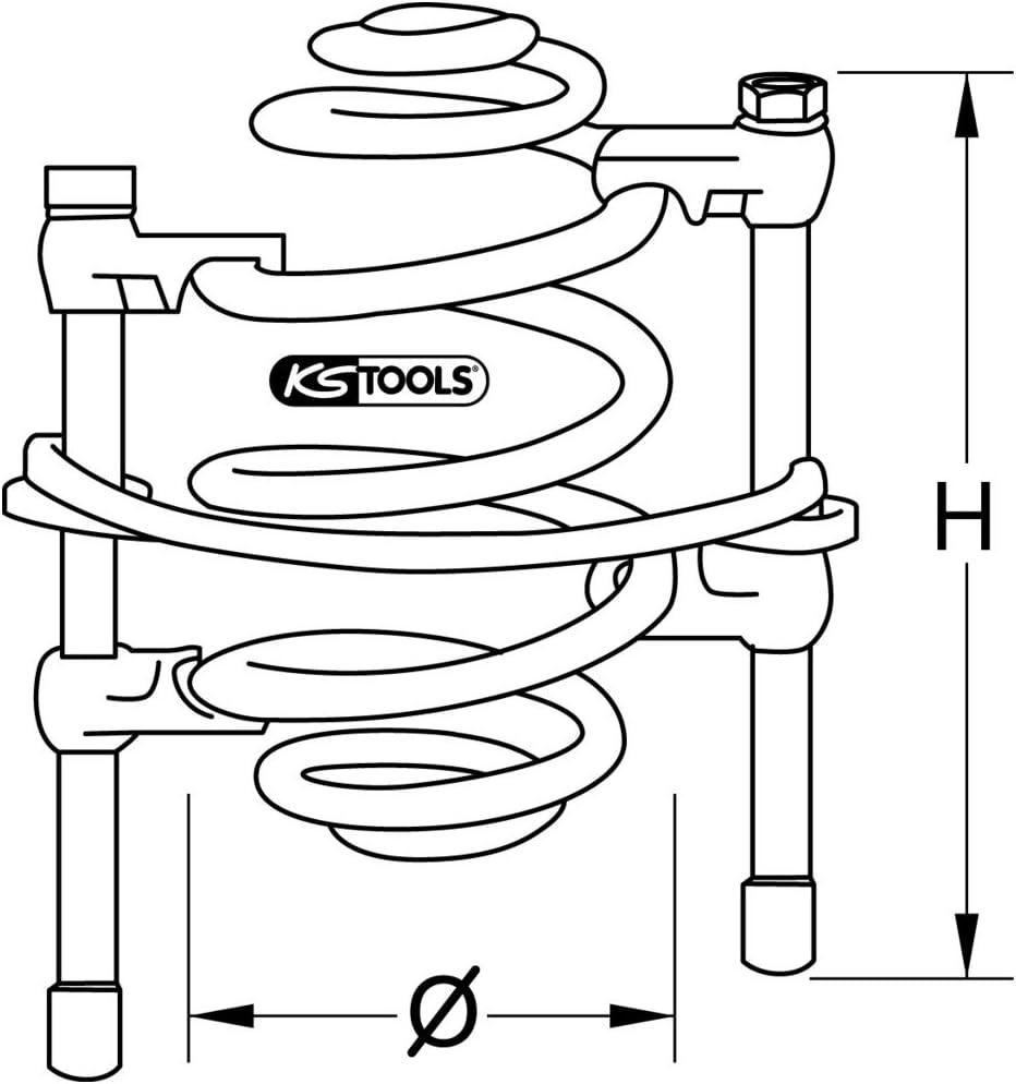 KS Tools 670.0051 Compresseur ressort barre de s/écurit/é et crochets rev/êtement plastifi/é 300 mm