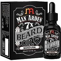 Man Arden 7X Beard Oil 30ml Mandarin 7 Premium Oils Blend