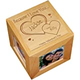 GiftsForYouNow Engraved Because I Love You Photo Cube, Wood