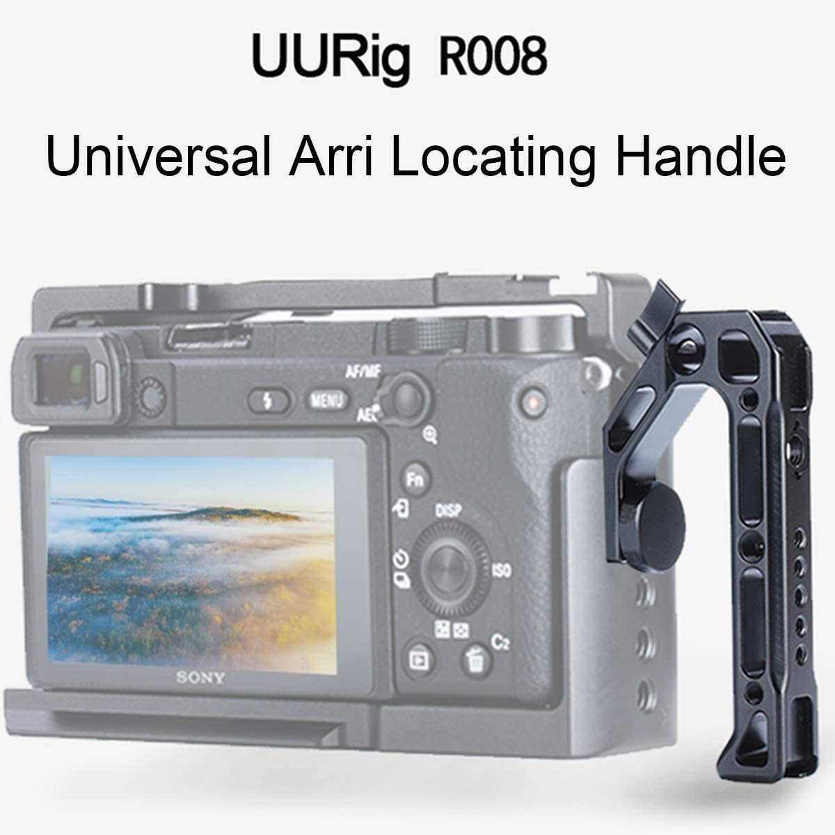 Arri Locating Hole Handheld Video Metal Cage Kit with Top Handle Grip for Sony A6400 A6300 A6100 Professional Microphone//Video Light Extension Mounting W Cold Shoe Video Vlog Film Making