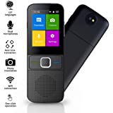 SAULEOO Language Translator Device, Portable Voice Translator Supports 137 Languages, WiFi Two Way Instant Voice Translator with 2.4 In Touch Screen
