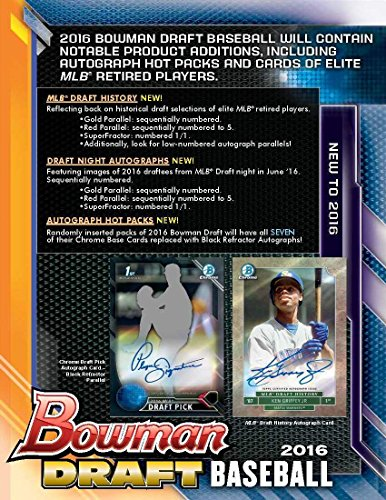 2016 Bowman DRAFT Picks & Prospects Baseball HTA SUPER Jumbo Hobby Box - 5 packs / 120 cards