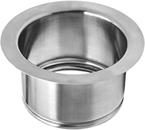 "Extended Garbage Disposal Flange, 2 1/2"", Brushed Stainless Steel 3-Bolt Mount Deep Sink Flange for Insinkerator and Other 3-Bolt Mount Disposers"
