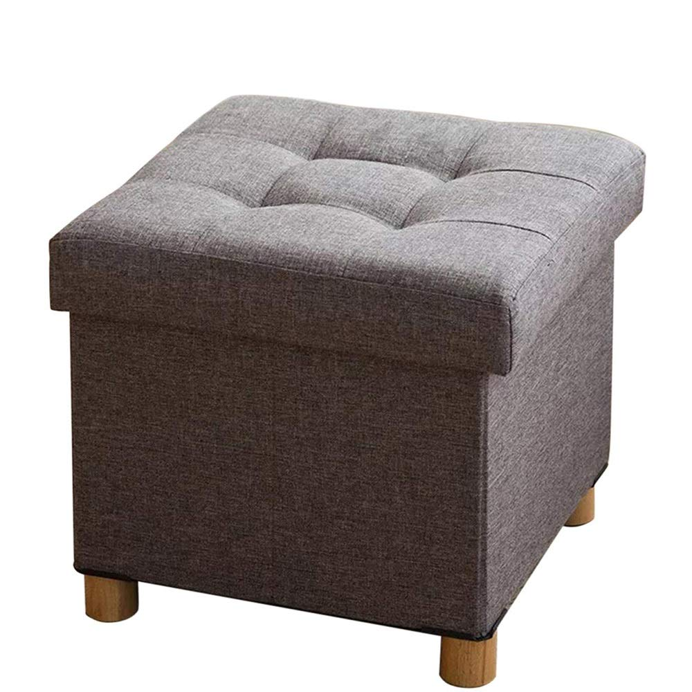 DHINGM Square Storage Sofa Bench Made of Durable High-Density Fiberboard, Linen Fabric and High-Rebound Sofa Sponge, Foldable Design and Space Saving by DHINGM