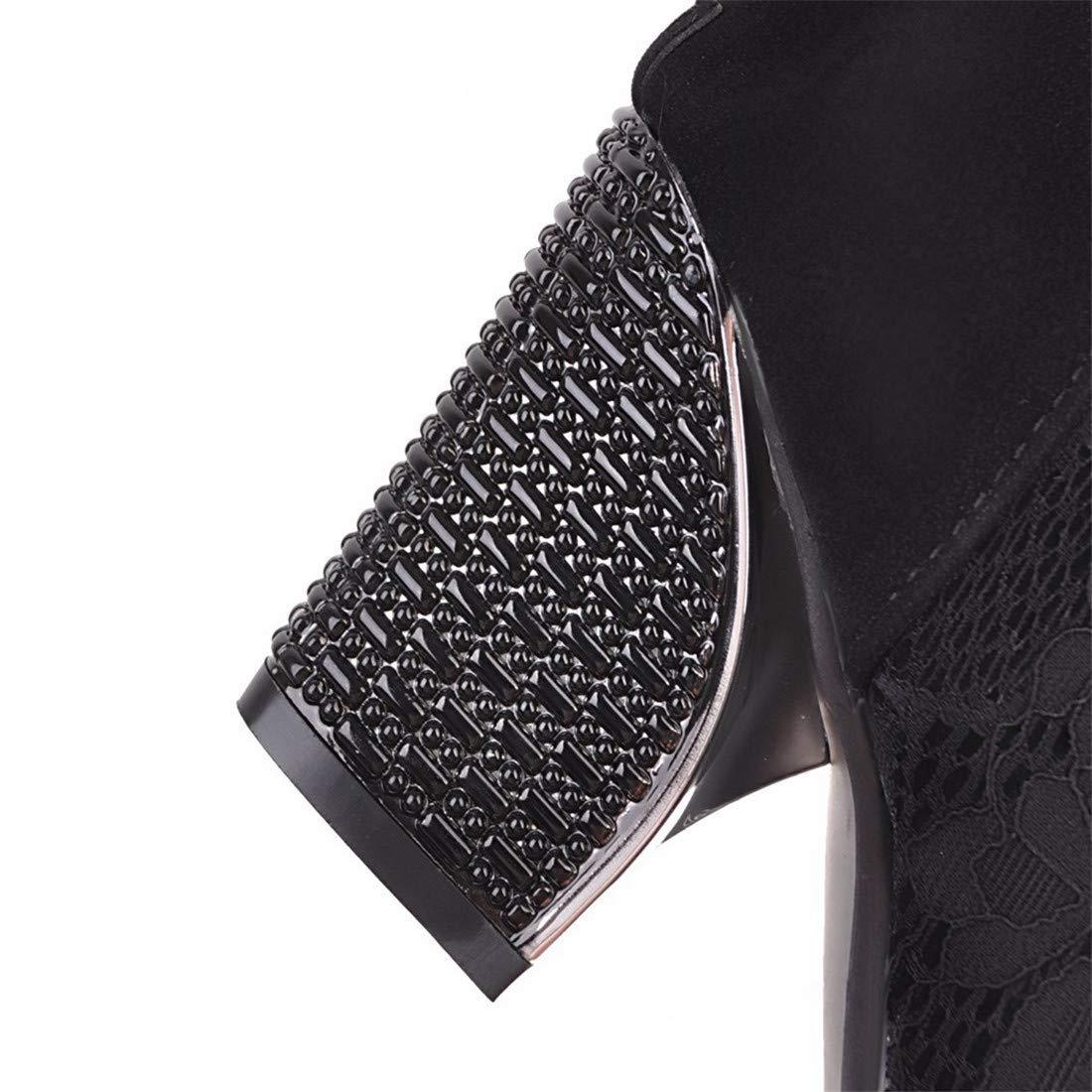 Stiefel  einfache Wilde Wilde Wilde Damenschuhe   Dicke Frauen mit Stiefeletten fe8937