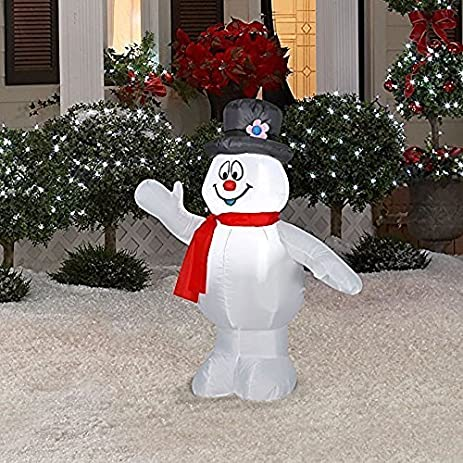 frosty the snowman christmas inflatable 3 12 ft airblown yard decoration by gemmy