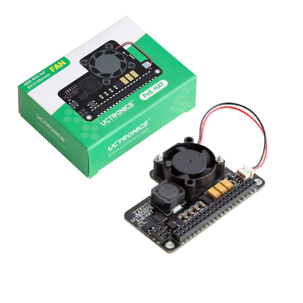 Work with Echo Dot IEEE 802.3af Compliant Micro USB Power and Ethernet to Raspberry Pi 3B+ UCTRONICS PoE Splitter Gigabit 5V Most Micro USB Security Camera and Tablet