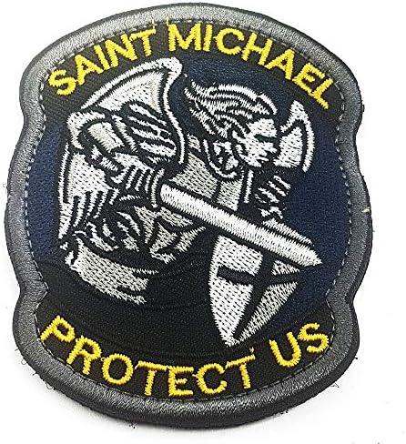 Polizeimemesshop St Michael Textil Patch Gold Edition Auto