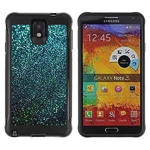 Suave TPU GEL Carcasa Funda Silicona Blando Estuche Caso de protección (para) Samsung Note 3 / CECELL Phone case / / Teal Snow Winter Stars Abstract /