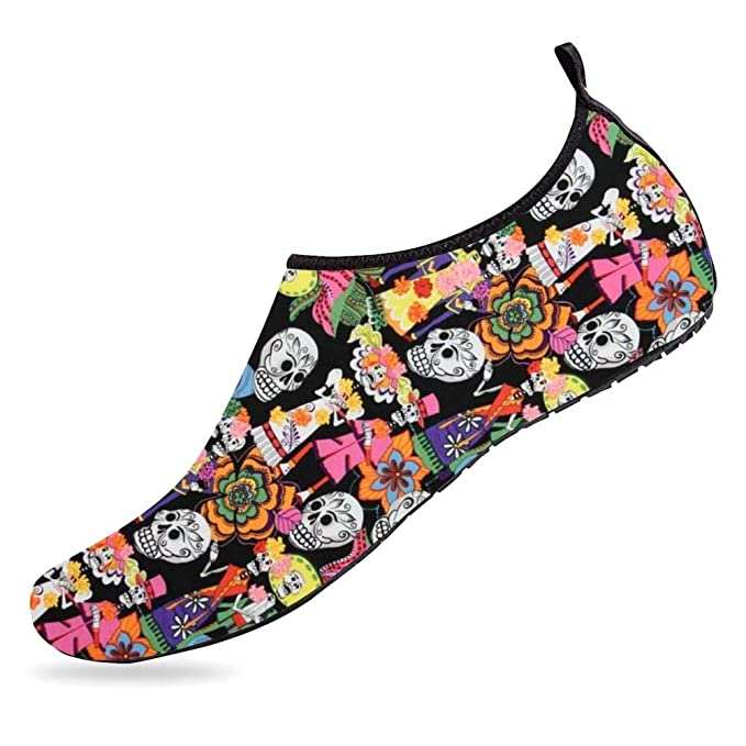 d92e358eafec Amazon.com  Breathable Barefoot Aqua Socks The Dead Skeletons Mens Womens Water  Shoes Quick-Dry Shoes for Running Walking Swimming Yoga  Clothing