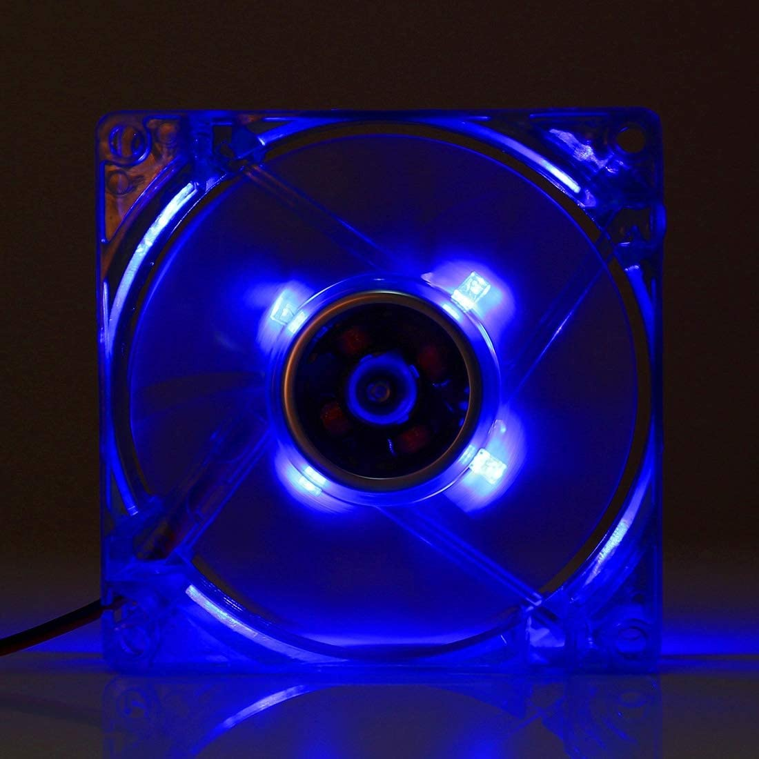 IPartserve Computer Accessories JA 8025 4 Pin DC 12V 0.18A Computer Case Cooler Cooling Fan with LED Light Dark Blue Size: 80x80x25mm Color : Green