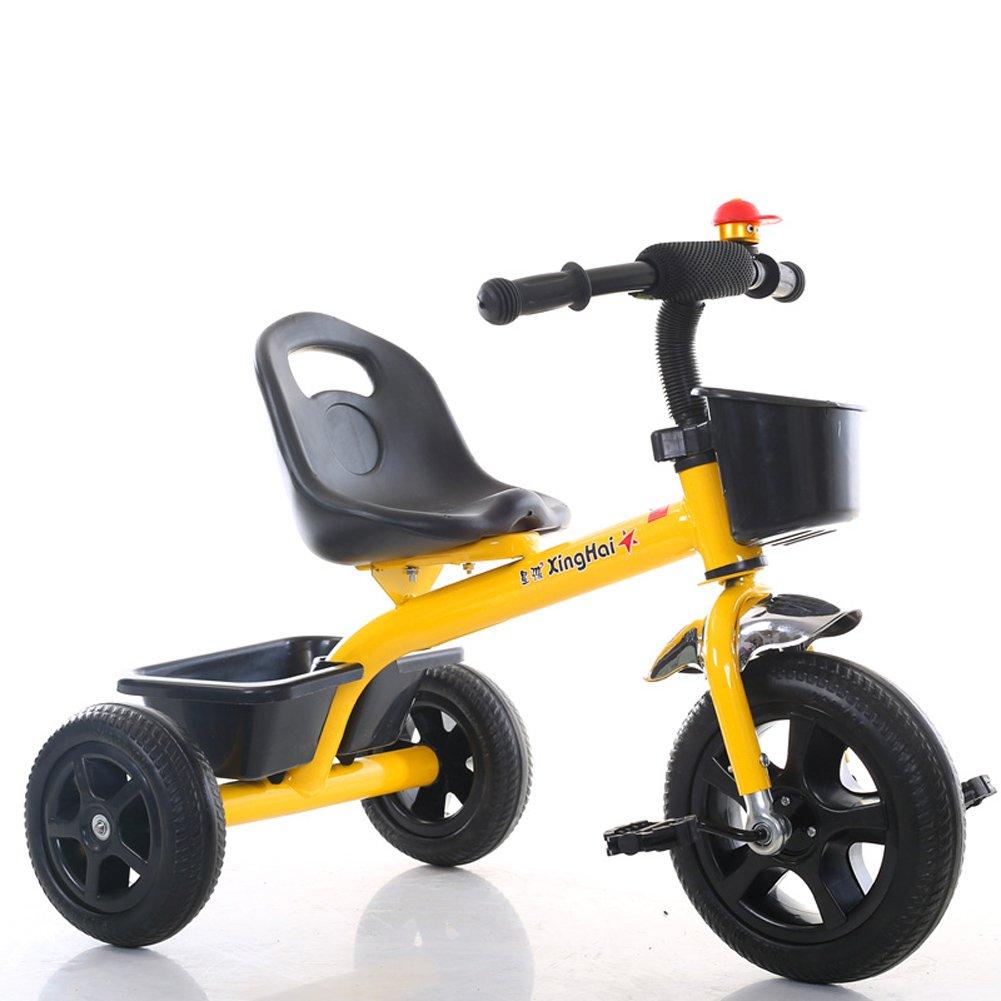 最新エルメス CHS@ 軽量子供の三輪車1-3-6歳の赤ちゃんのキャリッジの男の子と女の子の自転車赤ちゃんのベビーカー : 子ども用自転車 (色 : イエロー いえろ゜) イエロー (色 いえろ゜ いえろ゜) B07Q1NX6NZ, 神戸 呉服の夢屋:770903a5 --- senas.4x4.lt