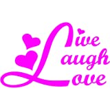 "Live Laugh Love Car Window Vinyl Decal Sticker 5"" Wide"