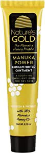 Nature's Gold Australian Manuka Honey Active 15+ Healing Concentrated Ointment | Natural Eczema Wound Healing Gel - Moisturizing Cream Perfect for Cuts, Calming Eczema and Other Skin Damage