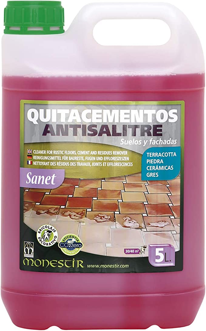 SANET QUITACEMENTOS ANTISALITRE 5L MONESTIR: Amazon.es ...