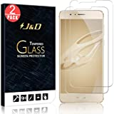 J&D Compatible for 2-Pack Huawei Honor 8 Glass Screen Protector, [Tempered Glass] [Not Full Coverage] HD Clear Ballistic Glass Screen Protector for Huawei Honor 8 Screen Protector