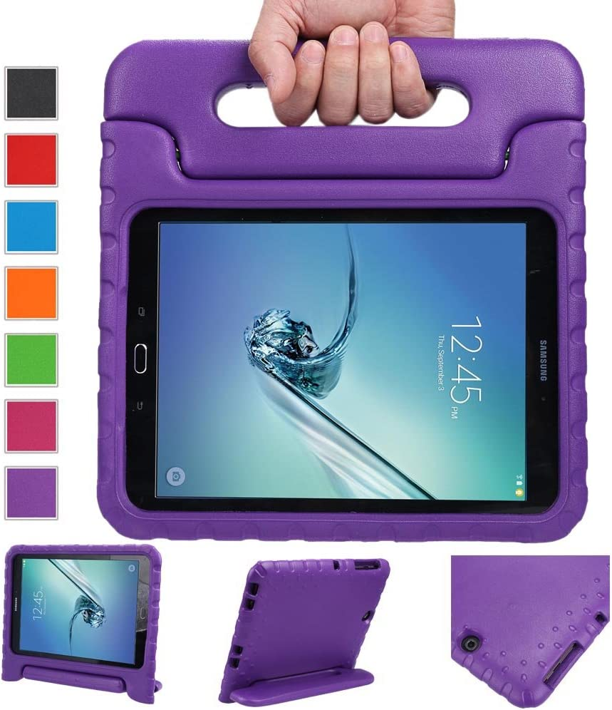 NEWSTYLE Tab S2 9.7 Shockproof Case Light Weight Kids Case Super Protection Cover Handle Stand Case for Kids Children for Samsung Galaxy Tab S2 9.7-inch Tablet SM-T810 SM-T815 (Purple)