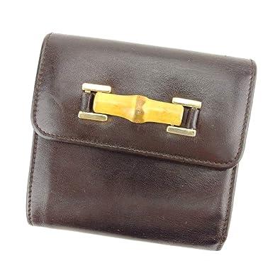 finest selection 08d43 87b19 Amazon | (グッチ) Gucci 三つ折り 財布 がま口 ブラウン ...