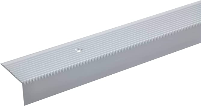 acerto 32489 Perfil angular de aluminio - 100cm 20x40mm plateado * Antideslizante * Robusto * Fácil montaje | Perfil de peldaño de escalera de aluminio | Perfil de escalera perforado | Perfil: Amazon.es: Bricolaje y herramientas