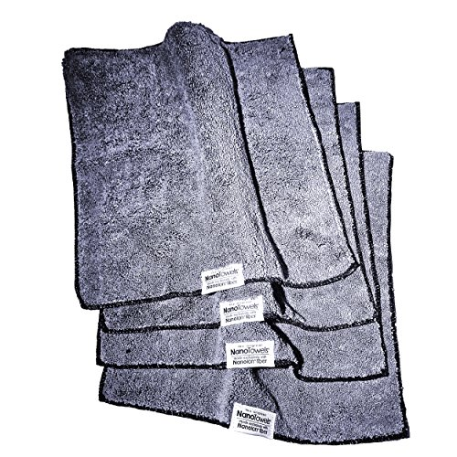 Life Miracle Nano Towels - Amazing Eco Fabric That Cleans Virtually Any Surface With Only Water. No More Paper Towels Or Toxic Chemicals. (Grey) by Life Miracle (Image #3)